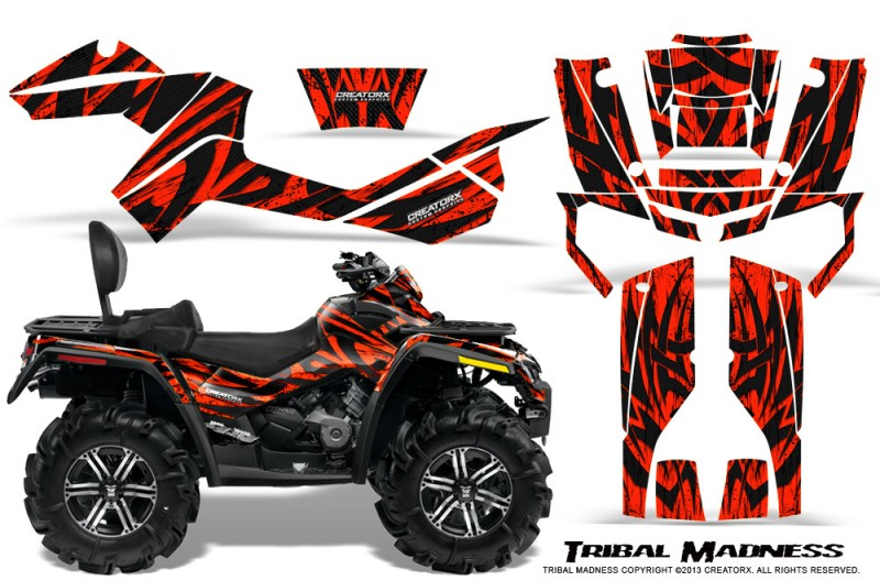 Can-Am-Outlander-MAX-CreatorX-Graphics-Kit-Tribal-Madness-Red