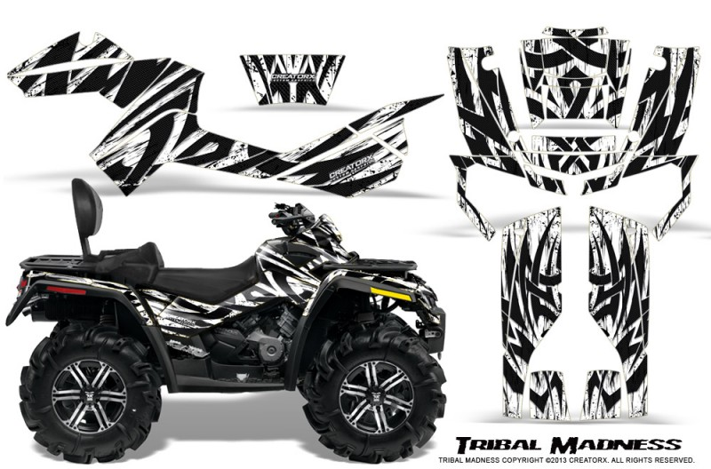 Can-Am-Outlander-MAX-CreatorX-Graphics-Kit-Tribal-Madness-White