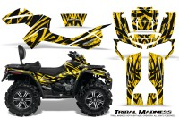 Can-Am-Outlander-MAX-CreatorX-Graphics-Kit-Tribal-Madness-Yellow