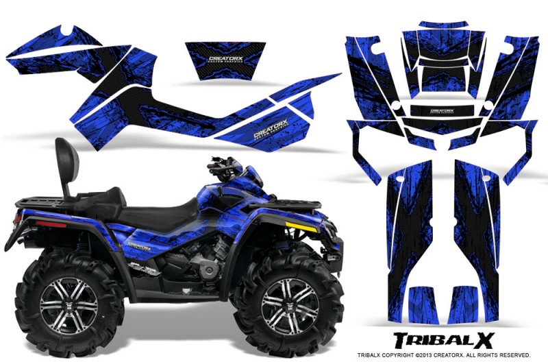 Can-Am-Outlander-MAX-CreatorX-Graphics-Kit-TribalX-Black-Blue