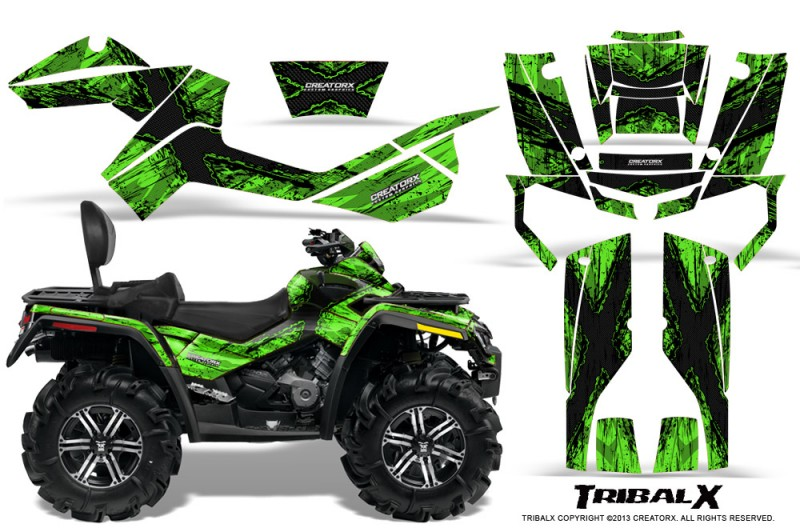 Can-Am-Outlander-MAX-CreatorX-Graphics-Kit-TribalX-Black-Green