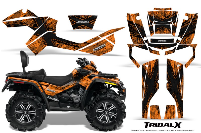 Can-Am-Outlander-MAX-CreatorX-Graphics-Kit-TribalX-Black-Orange
