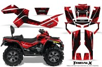 Can-Am-Outlander-MAX-CreatorX-Graphics-Kit-TribalX-Black-Red