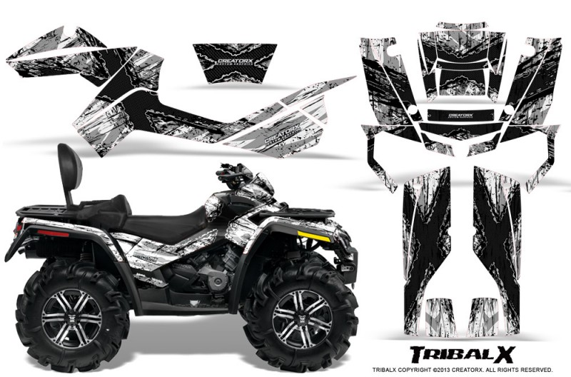 Can-Am-Outlander-MAX-CreatorX-Graphics-Kit-TribalX-Black-White