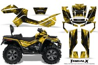 Can-Am-Outlander-MAX-CreatorX-Graphics-Kit-TribalX-Black-Yellow