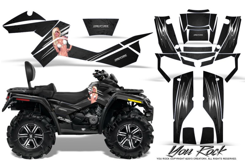 Can-Am-Outlander-MAX-CreatorX-Graphics-Kit-You Rock-Black