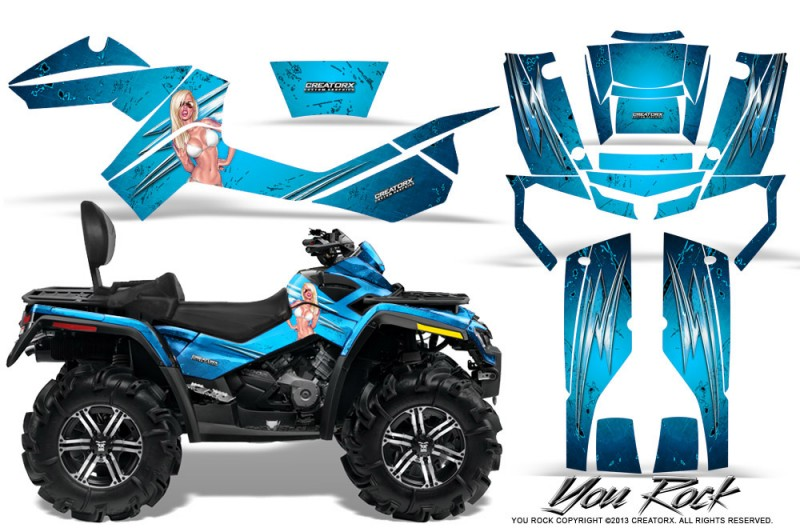 Can-Am-Outlander-MAX-CreatorX-Graphics-Kit-You Rock-BlueIce