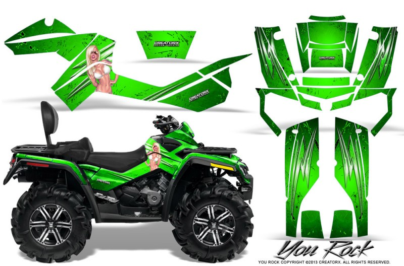 Can-Am-Outlander-MAX-CreatorX-Graphics-Kit-You Rock-Green
