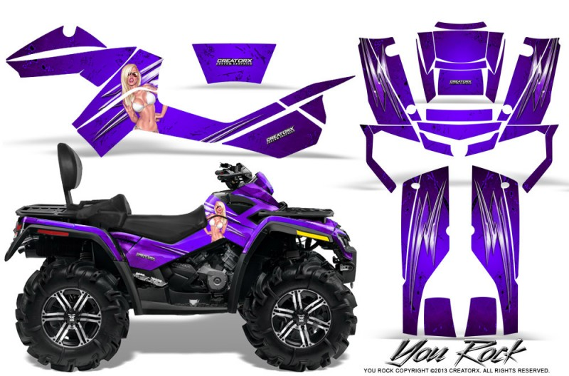 Can-Am-Outlander-MAX-CreatorX-Graphics-Kit-You Rock-Purple