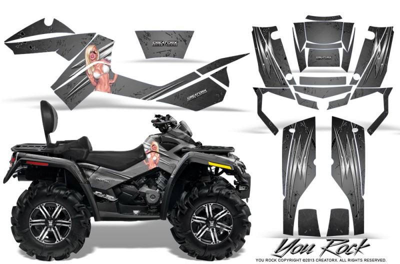 Can-Am-Outlander-MAX-CreatorX-Graphics-Kit-You Rock-Silver
