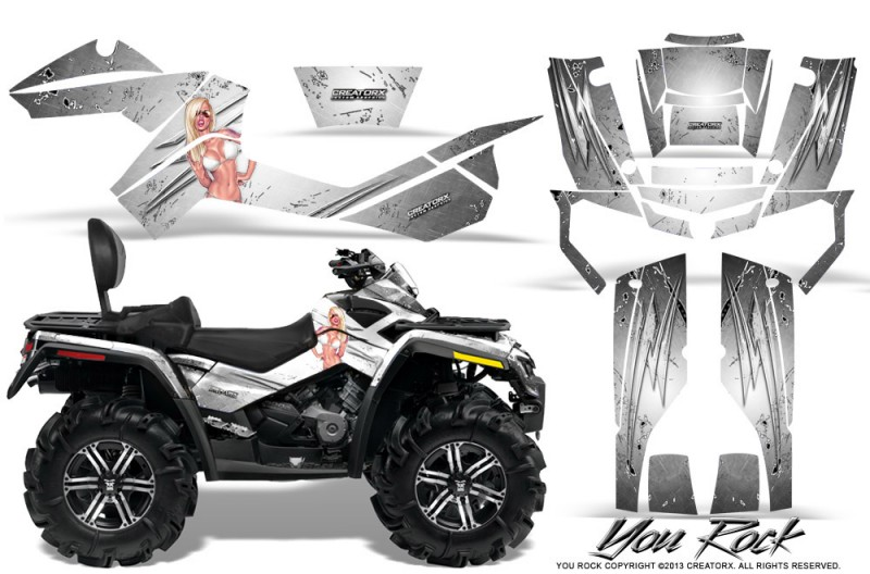 Can-Am-Outlander-MAX-CreatorX-Graphics-Kit-You Rock-White