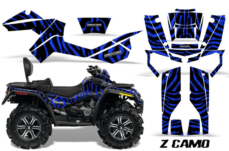 Can-Am-Outlander-MAX-CreatorX-Graphics-Kit-ZCamo-Black-Blue