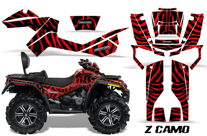 Can-Am-Outlander-MAX-CreatorX-Graphics-Kit-ZCamo-Black-Red