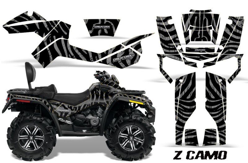 Can-Am-Outlander-MAX-CreatorX-Graphics-Kit-ZCamo-Black-Silver