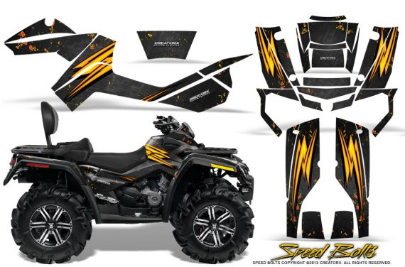 Can-Am-Outlander-MAX-Graphics-Kit-Speed-Bolts-Black