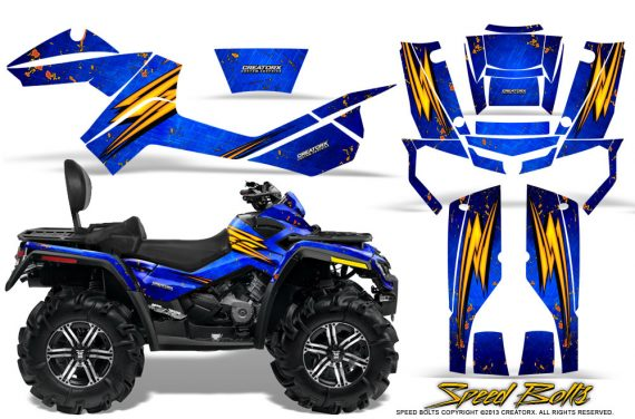 Can-Am-Outlander-MAX-Graphics-Kit-Speed-Bolts-Blue