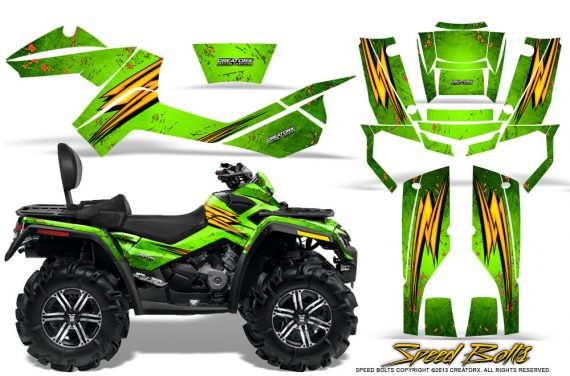 Can-Am-Outlander-MAX-Graphics-Kit-Speed-Bolts-Green