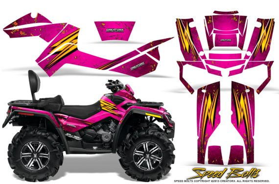 Can-Am-Outlander-MAX-Graphics-Kit-Speed-Bolts-Pink