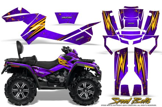 Can-Am-Outlander-MAX-Graphics-Kit-Speed-Bolts-Purple
