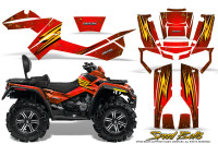 Can-Am-Outlander-MAX-Graphics-Kit-Speed-Bolts-Red