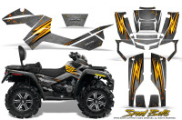 Can-Am-Outlander-MAX-Graphics-Kit-Speed-Bolts-Silver