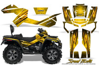 Can-Am-Outlander-MAX-Graphics-Kit-Speed-Bolts-Yellow