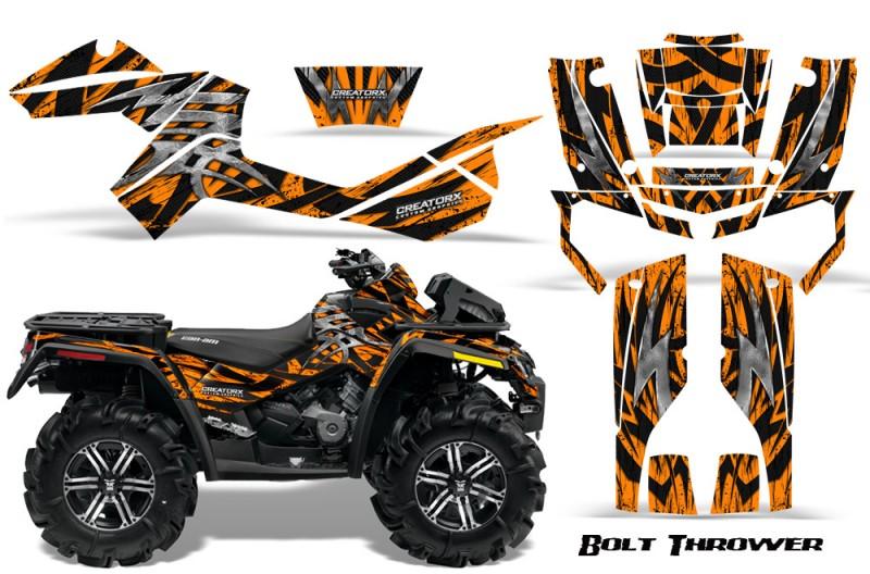 Can-Am-Outlander-XMR-CreatorX-Graphics-Kit-Bolt-Thrower-Orange