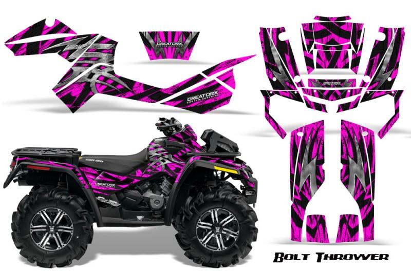 Can-Am-Outlander-XMR-CreatorX-Graphics-Kit-Bolt-Thrower-Pink