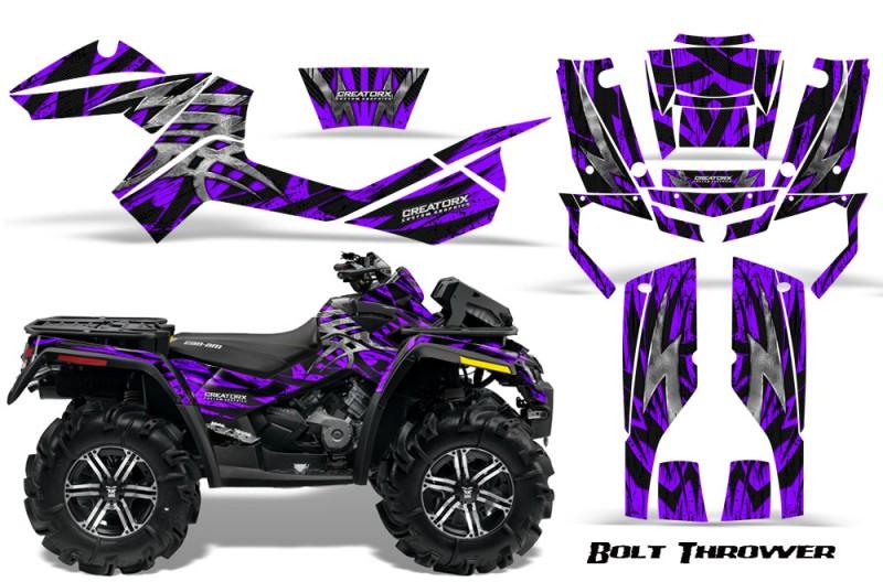 Can-Am-Outlander-XMR-CreatorX-Graphics-Kit-Bolt-Thrower-Purple