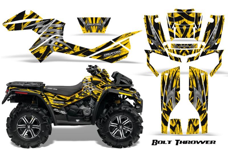 Can-Am-Outlander-XMR-CreatorX-Graphics-Kit-Bolt-Thrower-Yellow