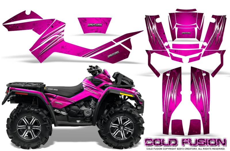 Can-Am-Outlander-XMR-CreatorX-Graphics-Kit-Cold-Fusion-Pink