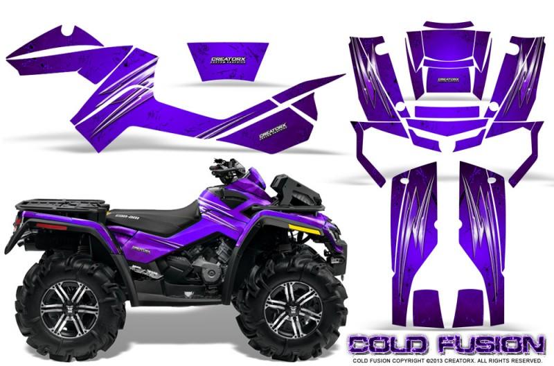 Can-Am-Outlander-XMR-CreatorX-Graphics-Kit-Cold-Fusion-Purple