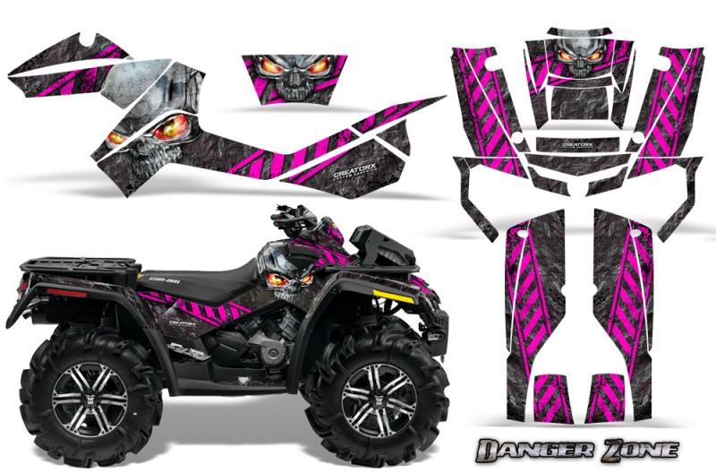 Can-Am-Outlander-XMR-CreatorX-Graphics-Kit-Danger-Zone-Pink-Black
