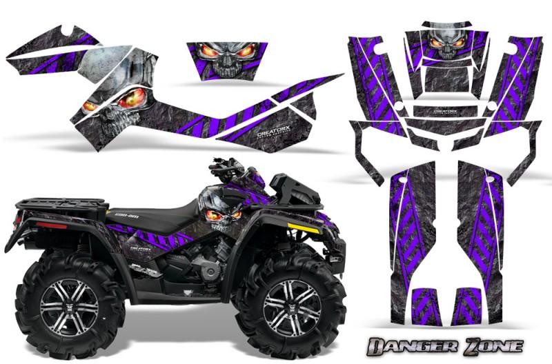 Can-Am-Outlander-XMR-CreatorX-Graphics-Kit-Danger-Zone-Purple-Black
