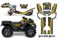 Can-Am-Outlander-XMR-CreatorX-Graphics-Kit-Danger-Zone-Yellow-Black-YB