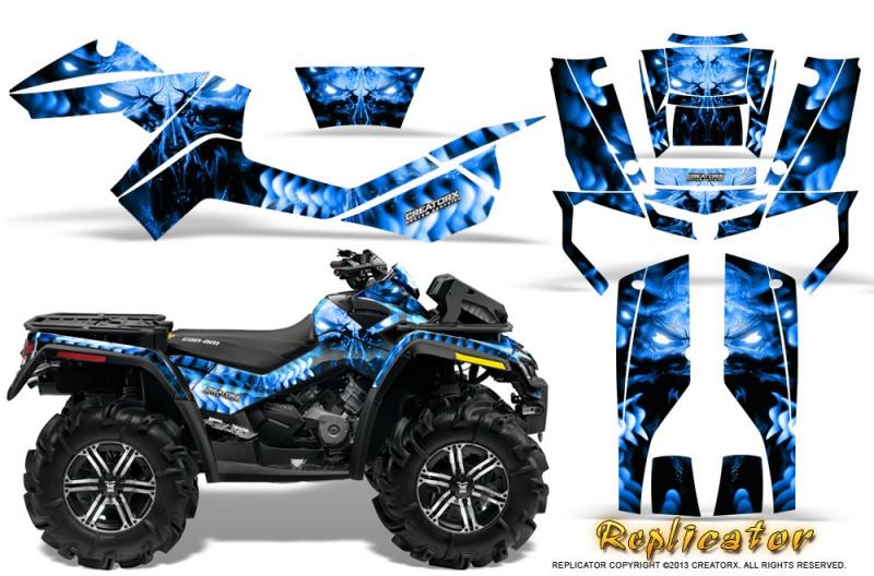 Can-Am-Outlander-XMR-CreatorX-Graphics-Kit-Replicator-Blue