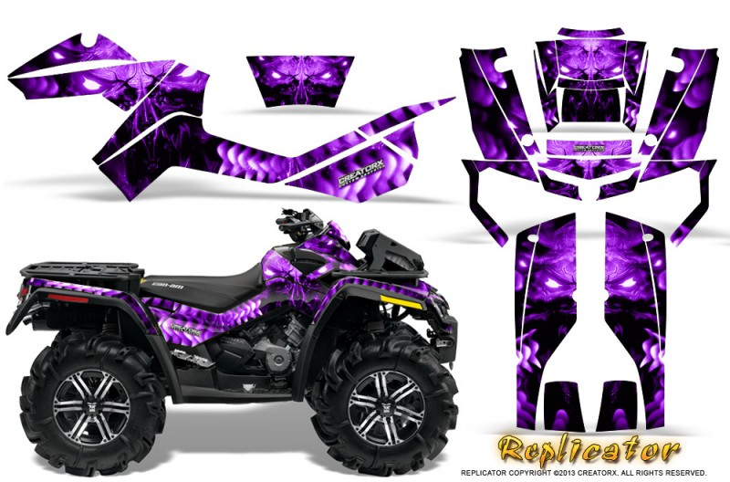 Can-Am-Outlander-XMR-CreatorX-Graphics-Kit-Replicator-Purple