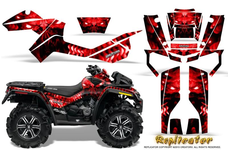 Can-Am-Outlander-XMR-CreatorX-Graphics-Kit-Replicator-Red