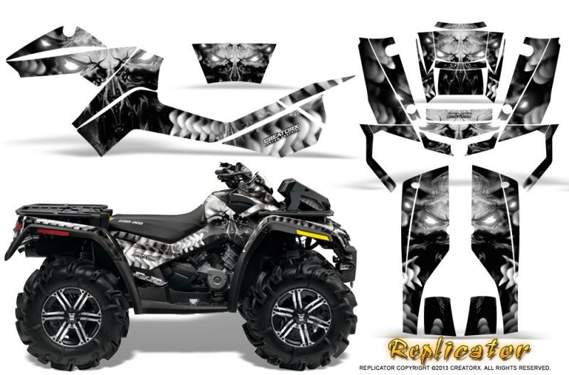 Can-Am-Outlander-XMR-CreatorX-Graphics-Kit-Replicator-Silver