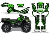 Can-Am-Outlander-XMR-CreatorX-Graphics-Kit-Skull-Chief-Green