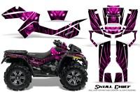 Can-Am-Outlander-XMR-CreatorX-Graphics-Kit-Skull-Chief-Pink