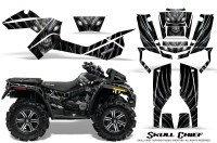 Can-Am-Outlander-XMR-CreatorX-Graphics-Kit-Skull-Chief-Silver