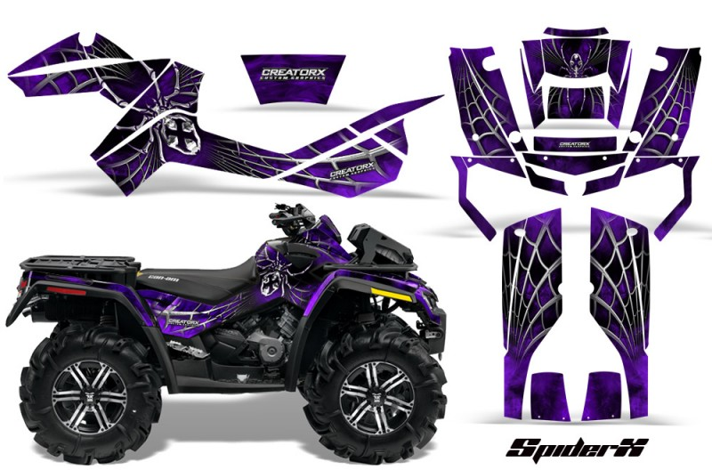 Can-Am-Outlander-XMR-CreatorX-Graphics-Kit-SpiderX-Purple