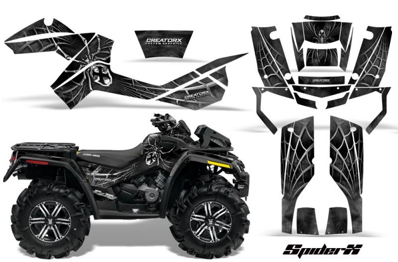 Can-Am-Outlander-XMR-CreatorX-Graphics-Kit-SpiderX-Silver