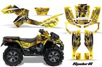 Can-Am-Outlander-XMR-CreatorX-Graphics-Kit-SpiderX-Yellow-YB