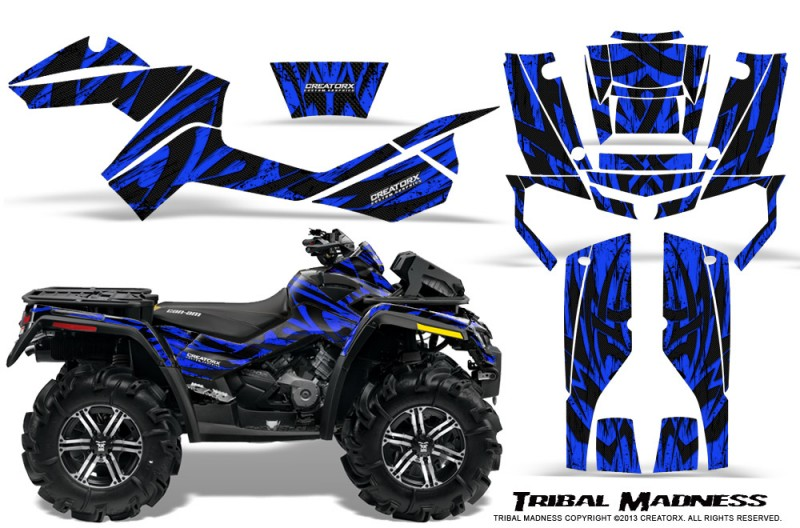 Can-Am-Outlander-XMR-CreatorX-Graphics-Kit-Tribal-Madness-Blue