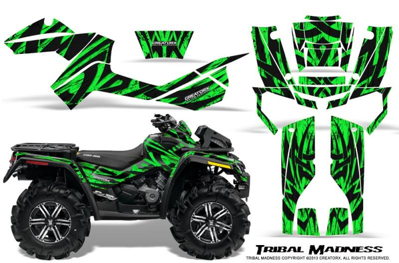 Can-Am-Outlander-XMR-CreatorX-Graphics-Kit-Tribal-Madness-Green