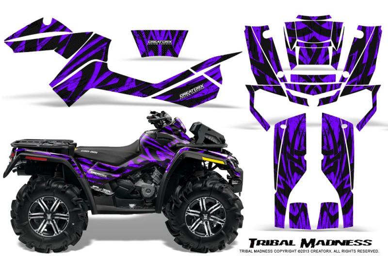 Can-Am-Outlander-XMR-CreatorX-Graphics-Kit-Tribal-Madness-Purple