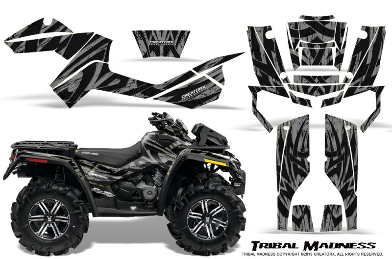 Can-Am-Outlander-XMR-CreatorX-Graphics-Kit-Tribal-Madness-Silver