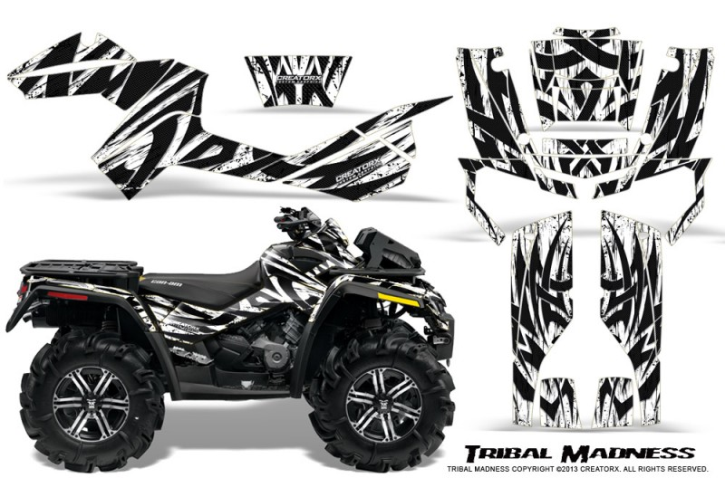 Can-Am-Outlander-XMR-CreatorX-Graphics-Kit-Tribal-Madness-White